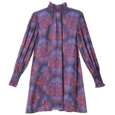 bebe Print Smocked Dress (505 ILS) ❤ liked on Polyvore featuring dresses, purple print dress, bebe, print dress, bebe dresses e purple dress