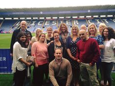 Here's the team during our summer away day in August 2015. We spent the day the the King Power Stadium and we very well looked after. Here we are on the pitch!
