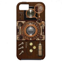 Vintage Steampunk TLR Camera 'Vibe' iPhone 5 Cases #SteamPUNK ☮k☮