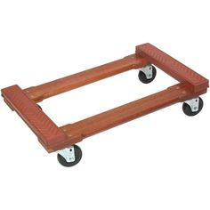 Monster Trucks - Wood Piano Rubber Cap Dolly Red, heavy-duty rubber caps on each end piece Hardwood rails & headers Strong & sturdy construction