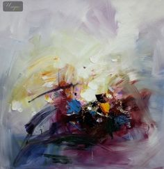 MODERN ABSTRACT - COLOR EXPLOSION 36X36   ORIGINAL OIL PAINTING