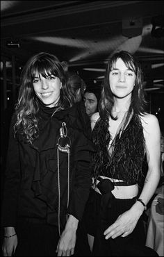 Lou Doillon and Charlotte Gainsbourg via @stylelist | http://aol.it/1l08t4h
