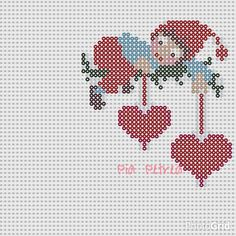 Nisse with hearts - Christmas perler bead pattern by Pia Petrea
