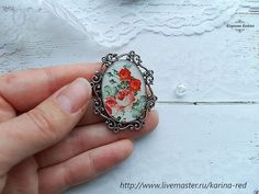 Vintage Brooch Red Roses on a White Background Boho Brooch on the dress Buy Dress, Vintage Brooches, Red Roses, Silver Rings, Delicate, Boho, Jewelry, Jewlery, Bijoux