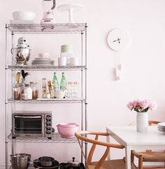 How to Style Wire Shelves for a Living Space and Kitchen