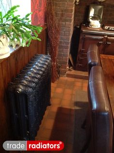 Graham Brown's Oxford cast iron radiator finished in Natural Cast from Trade Radiators