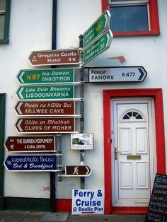 Clare Road Signs, Ireland