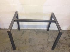 Pair of Metal Office Desk, Dining table legs with supporting bar (Made in Devon) Pictures show the steel frame in ERW steel - height 740mm width 800mm length 1100mm TABLE TOP NOT INCLUDED - THIS IS FOR THE BASE ONLY We do also sell the tables with the tops, please see my other