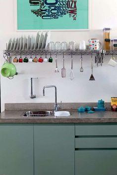 15 Tipos de Decoração de Cozinha com Prateleiras   Decoração e Projetos