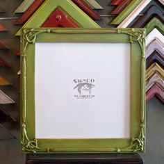 10x10 Inch Picture Frame Wooden Square Frame In 1.5-inch Fancy Trim Style And…