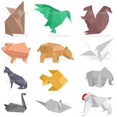images of oragami | Origami Creatures — Stock Vector © Felix Pergande #5272983