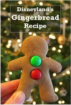You *might* know by now that the Gingerbread cookie at Disneyland is a favorite among us at Babes in Disneyland (see here, here, and here). So, I cannot tell you how ridiculously PUMPED I was to find the recipe for it – it may have made my holiday season! Christmas Sweets, Christmas Gingerbread, Christmas Cooking, Christmas Goodies, Christmas Fun, Holiday Fun, Easy Gingerbread Cookies, Gingerbread Recipes, Gingerbread Houses
