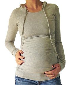 Take+a+look+at+this+Heather+Gray+Maternity+&+Nursing+Hoodie+on+zulily+today!