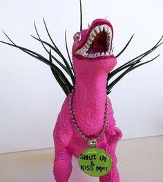 Dinosaur Planter Dinosaur Theme Party Girl by DinosaursGalore