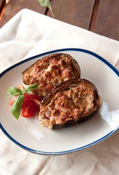 Pane e acqua di rose: Melanzane ripiene con ricotta e acciughe (Aubergines filled with ricotta cheese and anchovies)