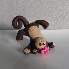 Custom Monkey Cake Topper for Birthday or Baby Shower by carlyace, $15.95