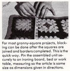 block and join granny squares  More technique than stitches.  Still nice to have the information.