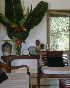 Tropical-chic Design...Love the details ~ via Lonny