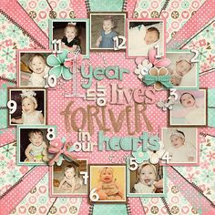 scrapbook pages ideas - 0-12 months - baby girl