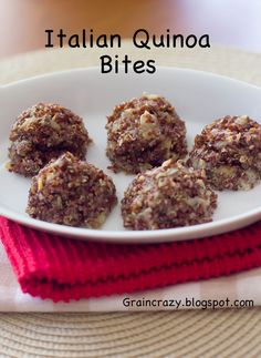 Grain Crazy: Italian Quinoa Bites (So good!) Enjoy the great Italian flavors without all the calories. Getting Healthy one bite at a time in 2015.