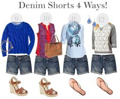 The May Closet- Outfits 9-12 (Denim Shorts 4 Ways!)