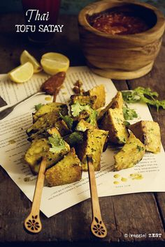 Remake delicious curry marinated skewers with tofu and a silky peanut sauce. A great vegetarian dish as we head into barbecue season.