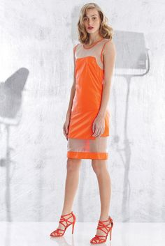 Spring 2013 Trend: See It Through (Helmut Lang's silk sheath. Alexandre Birman shoes.)
