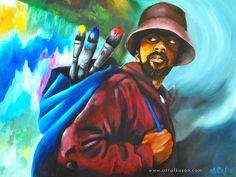 """Journeyman"" by Ka-Son Reeves Freedom Art, African American Culture, Dope Art, African Art, Black Art, All Art, Amazing Art, Illustrators, Art Gallery"