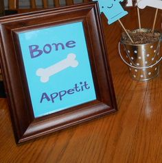 Bone Appetit Sign for Dog Theme Birthday by MyThreeSonsByKristin, $5.00