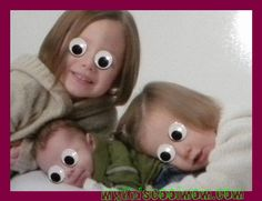 Fun ideas to turn your children's pictures into spooky Halloween pictures.