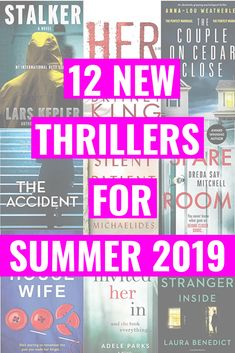 Collage of psychological thriller books. 12 New Thrillers For Summer 2019 written on top. 12 NEW PSYCHOLOGICAL THRILLERS FOR SUMMER 2019 - 12 new psychological thrillers to read on the beach, at the pool or in your living for summer Bingo, Lars Kepler, New Books, Good Books, Thriller Books, Psychology Facts, Behavioral Psychology, Personality Psychology, Educational Psychology