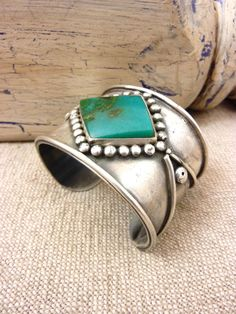 Vintage Navajo Wide Sterling Silver Cuff by poohscornerotheworld