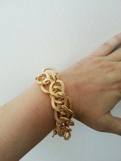 Golden Chain Bracelet Minimalist BOLD Artisan by ArtofAccessory