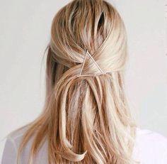 Triangle hairclip #hairclip