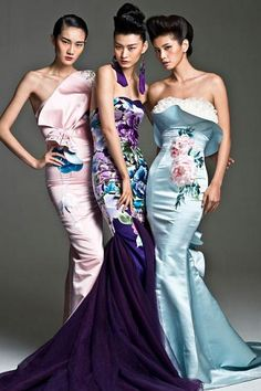 NeTiger 2013 blends the style of Western haute couture and the qipao. [Provided to China Daily]