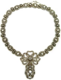 Antique diamond necklace, Cartier. Paris, circa 1905.  Via Diamonds in the Library.