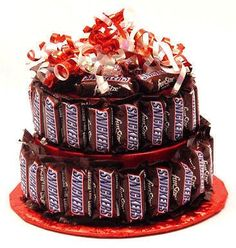 Candy Bar Cakes Candy Cake Chocolate Candy by SouthernSweetBites, $33.00