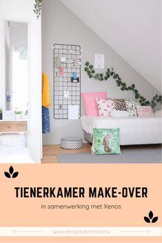 De tienerkamer-make-over i.m Xenos - Een goed verhaal - De leukste tips voor ouders Little Girl Rooms, Kidsroom, Interior Design Living Room, Modern, House, Furniture, Home Decor, Siblings, Room Girls