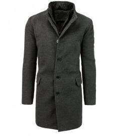 Pánsky jednoradový zimný čierny kabát Coat, Jackets, Fashion, Down Jackets, Moda, Sewing Coat, Fashion Styles, Peacoats, Fashion Illustrations