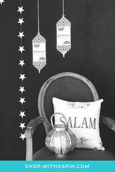 Absolutely love these acrylic lanterns and the star garlands. Perfect Ramadan decorations for a living room corner. Ramadan Decorations, Table Decorations, Plant Wall Decor, Ramadan Greetings, Countdown Calendar, Room Corner, Star Garland, Gift Packaging, Garlands