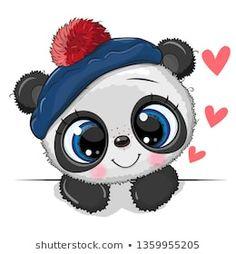 Cute Panda on a white background. Cute Drawing Baby Panda in a sailor hat on a white background stock illustration Kawaii Drawings, Disney Drawings, Cartoon Drawings, Cute Drawings, Animal Drawings, Cute Panda Drawing, Baby Drawing, Niedlicher Panda, Panda Art