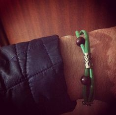 My green bracelet #bracelets #mensaccessories