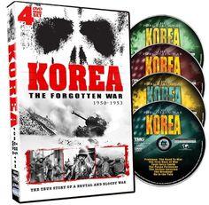 Korea The Forgotten War - 4 DVD Set! GAIAM INTERNATIONAL http://www.amazon.com/dp/B003EYEEI8/ref=cm_sw_r_pi_dp_BZ.tvb1ZS1D37