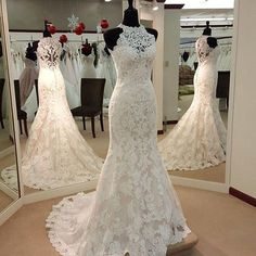 Wedding Dresses, Wedding Gown,Lace Wedding Gowns,Mermaid Bridal Dress,Fitted