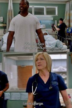 Nurse Jackie is in charge.