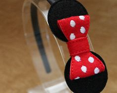 Mouse Headband-Baby Mouse Hair Bow-Mouse 3D Felt by HomemadeTrends
