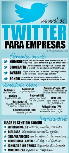 #Twitter para empresas #infografia