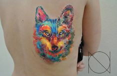 31 Watercolor Wolf Tattoo
