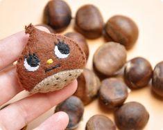 #DIY #Chestnut handmade felt brooch