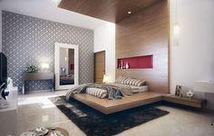 Camera da letto in legno dal design modero 06